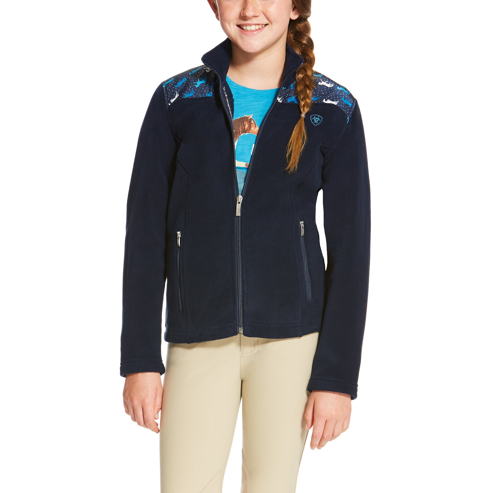 Basis Full Zip Girls Fleece - Forelock and Load
