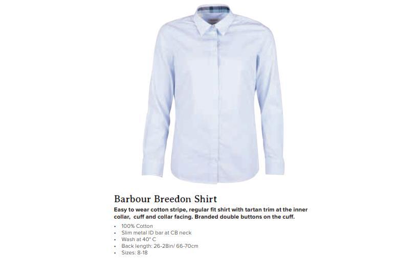 Barbour Breedon Shirt Blue White
