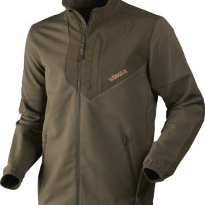 Pro Hunter softshell is a sturdy but lightweight jacket in a comfortable stretch fabric. The upper arms and shoulders are reinforced with durable CORDURA®, which can withstand whatever is thrown at it. The jacket features many practical details that will prove their worth on the shoot. The effective DWR-treatment makes the jacket wind- and water-repellent without comprising on breathability.Radio pocket on left side with rubber aerial portReinforcements with CORDURA®Zipped front pocketsElastic at sleeve hemAdjustable bottom hemFull stretchMain Fabric: 98%Polyester/2%Spandex, Woven, DWR