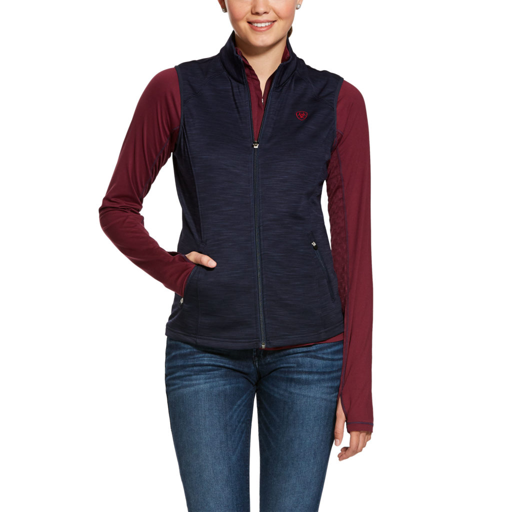 Ariat Conquest Full Zip Vest Navy