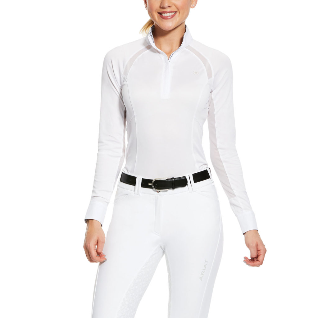 Ariat Sunstopper Pro Show Shirt White