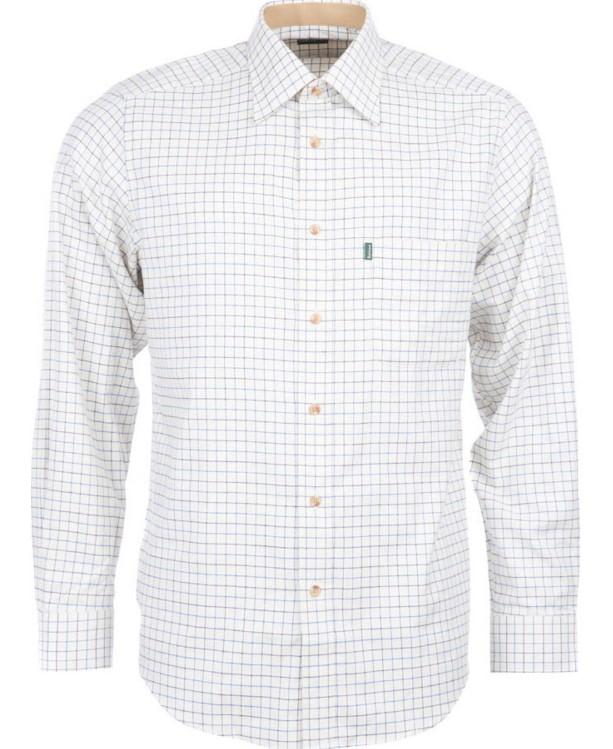 Barbour Tattersall Checked Shirt Navy