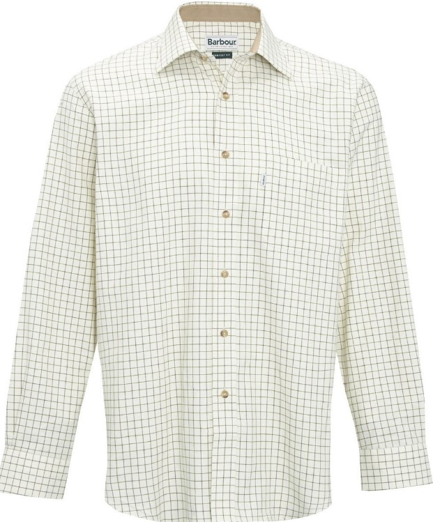 Barbour Tattersall Checked Shirt Green
