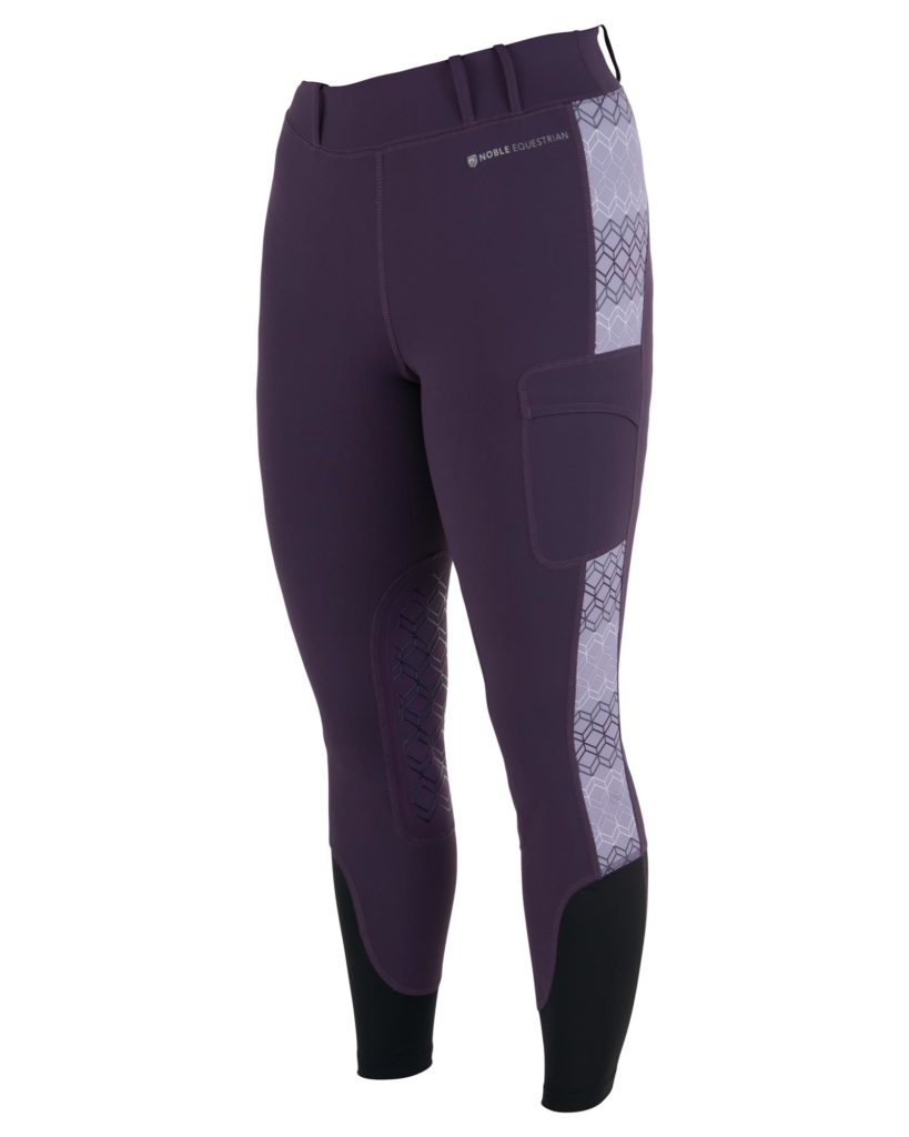 Noble Outfitters Printed Balance Riding Tights Grape Royale