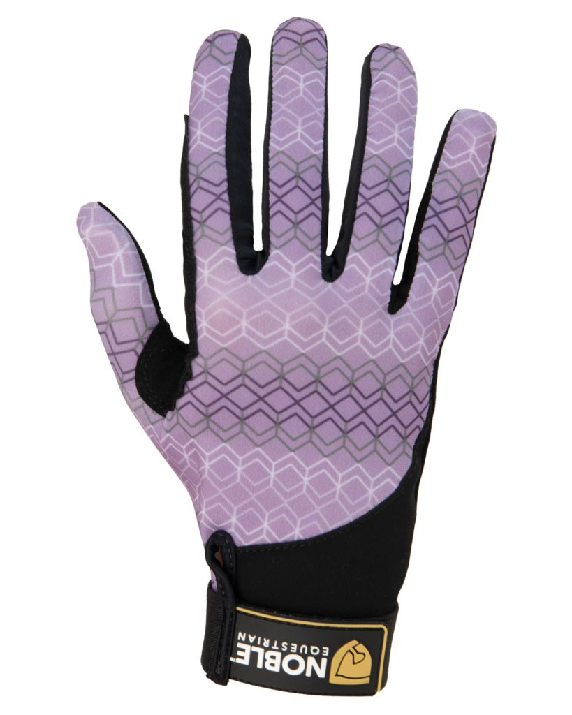 Noble Equestrian Perfect Fit Gloves Ash Geo
