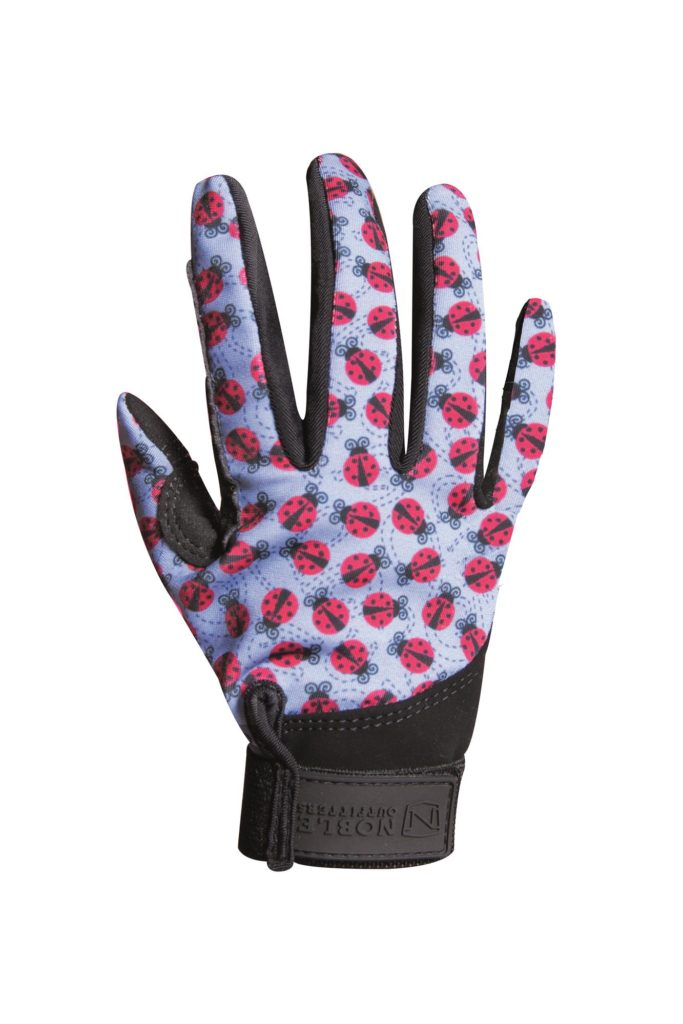 Noble Equestrian Perfect Fit Kids Gloves Ladybird