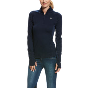 Ariat Lowell 2.0 1/4 Zip Baselayer Navy