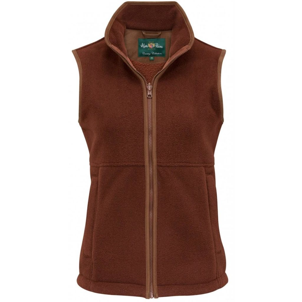 Aylsham Ladies Fleece Gilet Russet