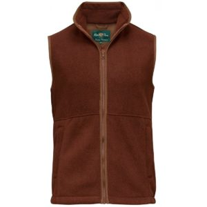 Aylsham Mens Fleece Gilet Russet