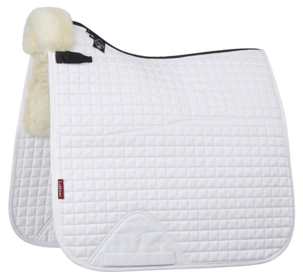 LeMieux Half Lined Dressage Square White