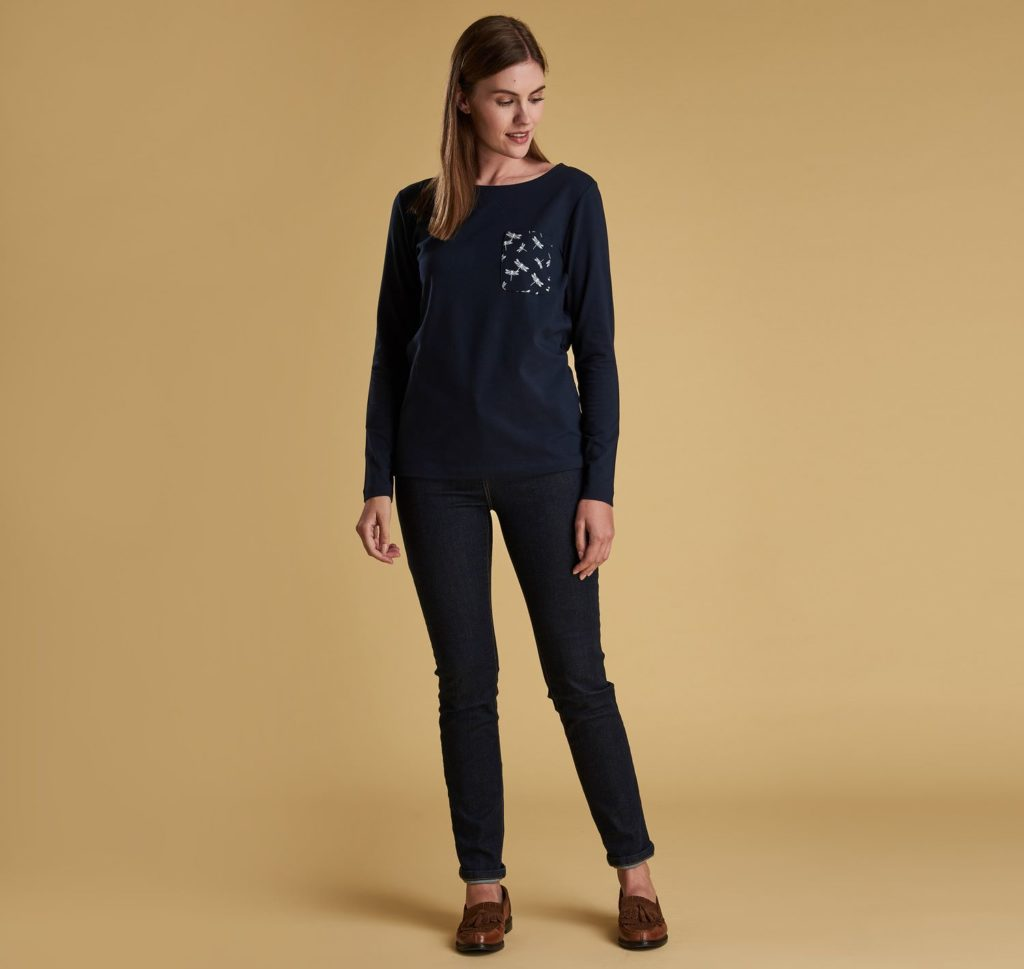 Barbour Keswick Top Navy