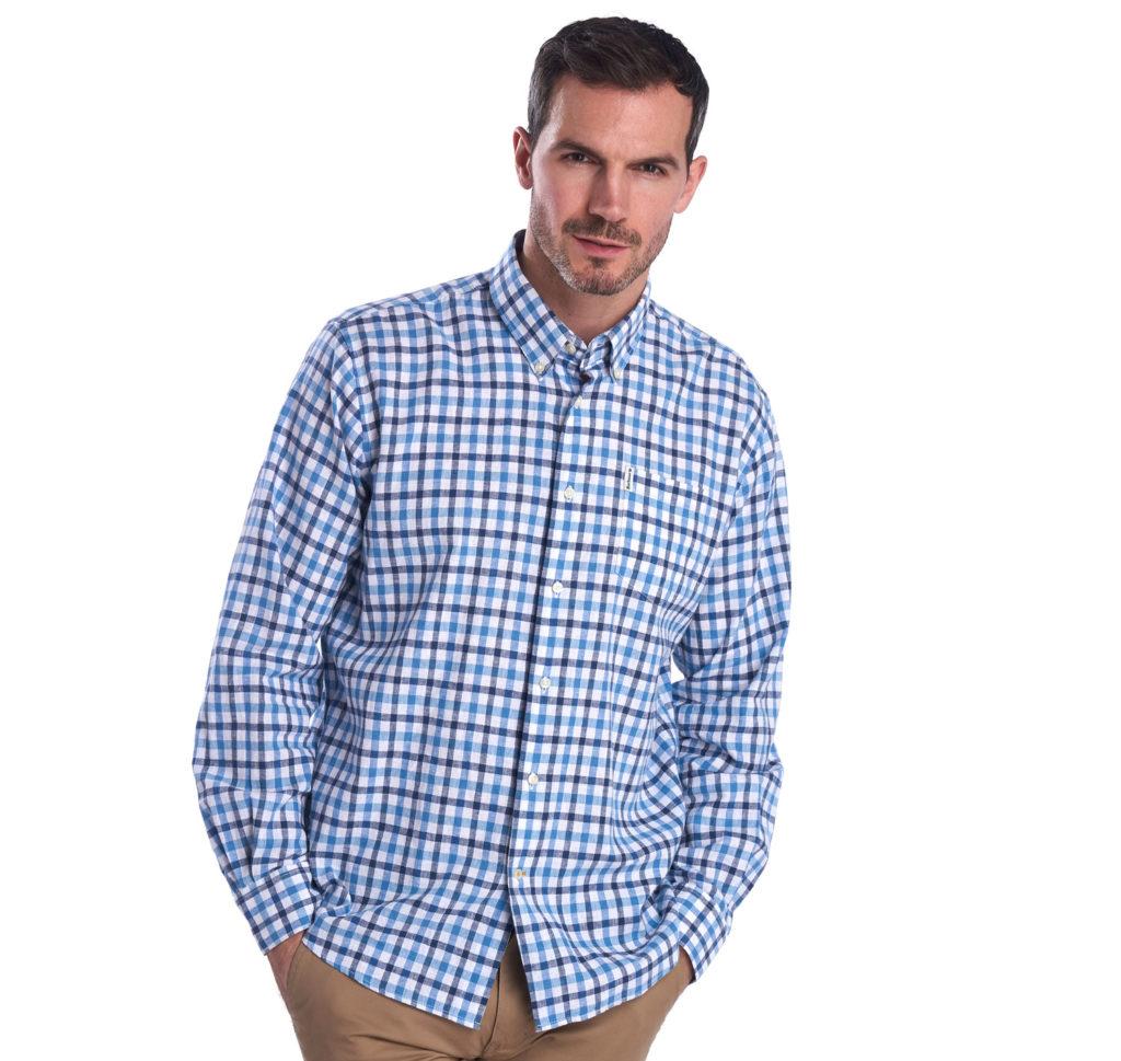 Barbour Linen Mix 3 Regular Shirt Blue