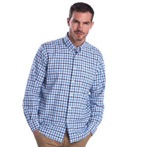 Barbour Linen Mix 3 Regular Shirt Blue