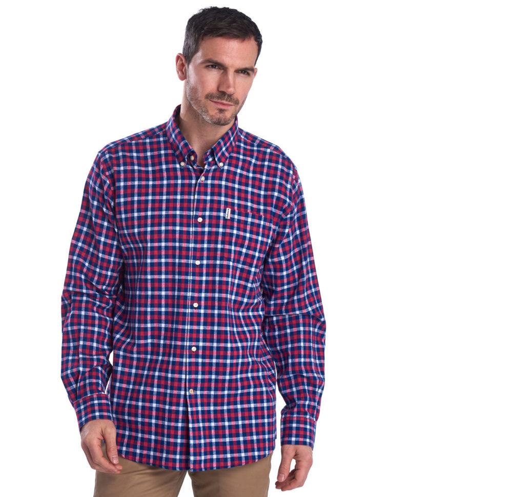 Barbour Linen Mix 3 Regular Shirt Navy