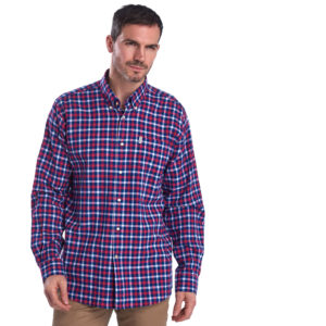 Barbour Linen Mix 3 Regular Shirt Navy