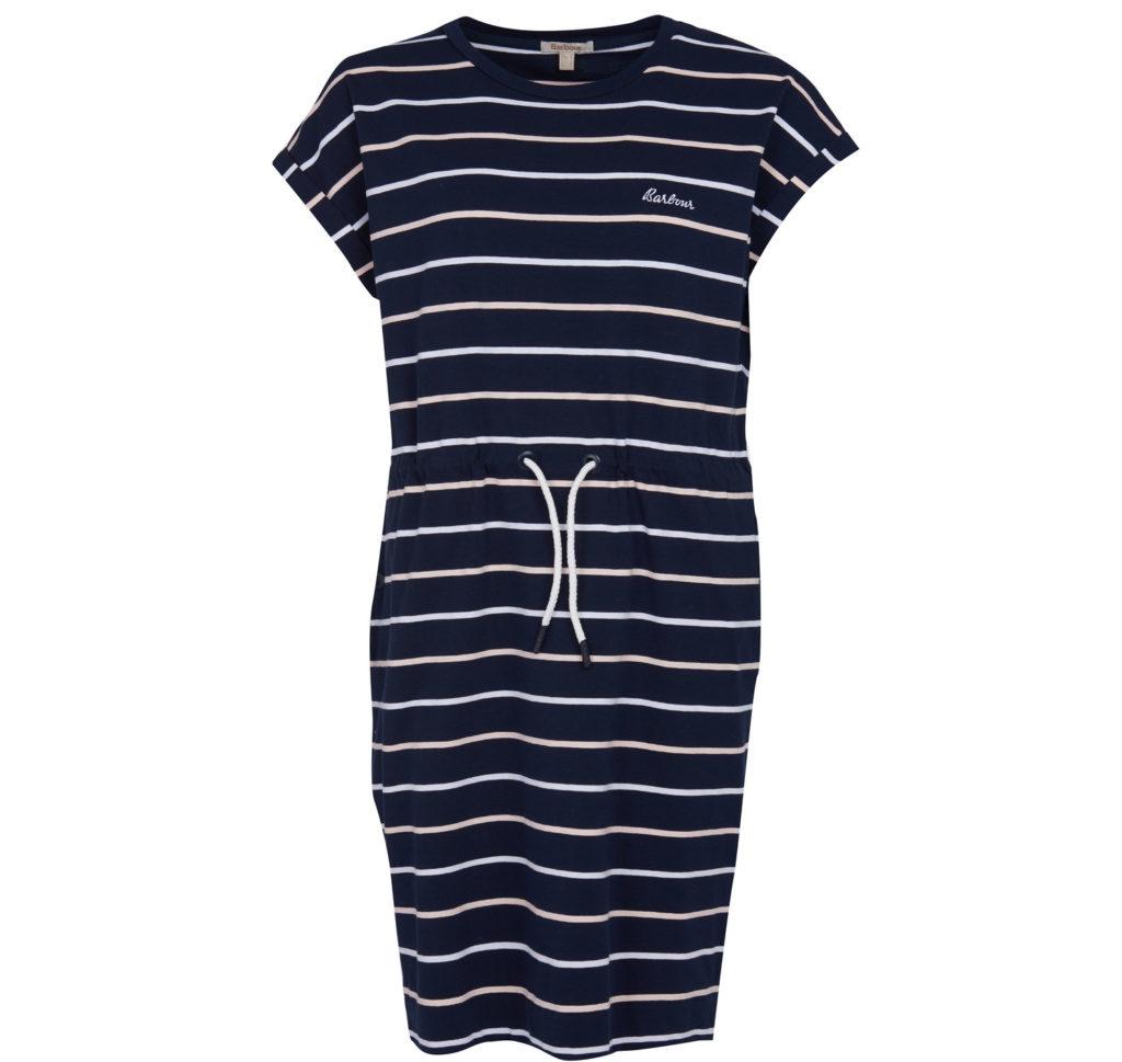 Barbour Marloes Stripe Dress Navy