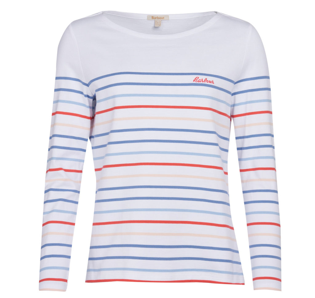 Barbour Hawkins Stripe Top White Multi