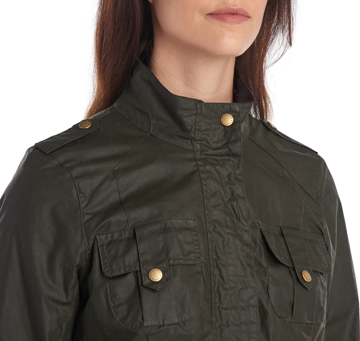 Barbour Defence Wax Jacket Olive - Forelock and Load