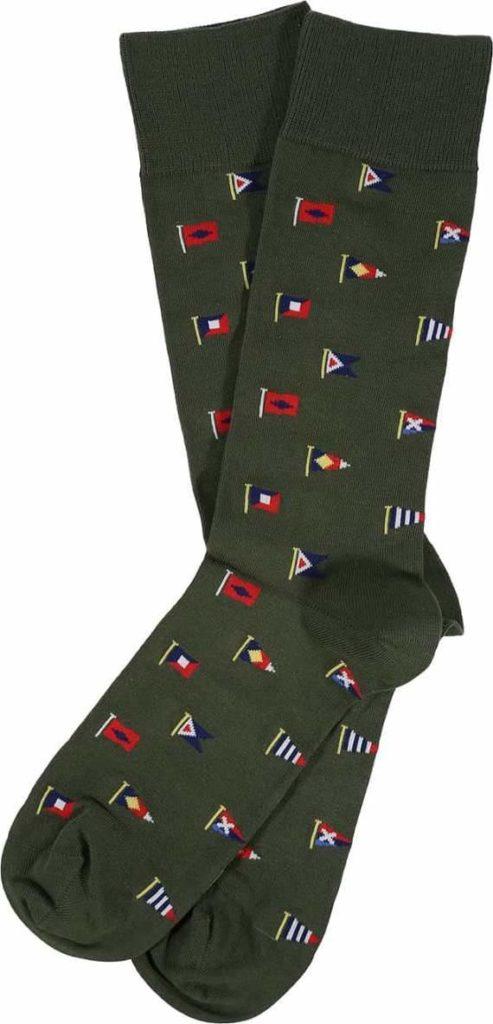 Barbour Mavin Socks Olive Flag
