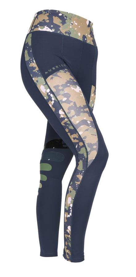 Aubrion Ladies Kingsbury Riding Tights Navy/Camo