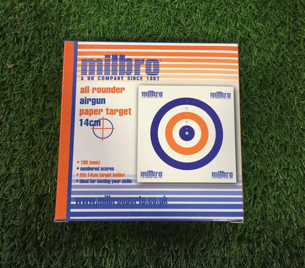Milbro All Round Card Target 14cm 100pk