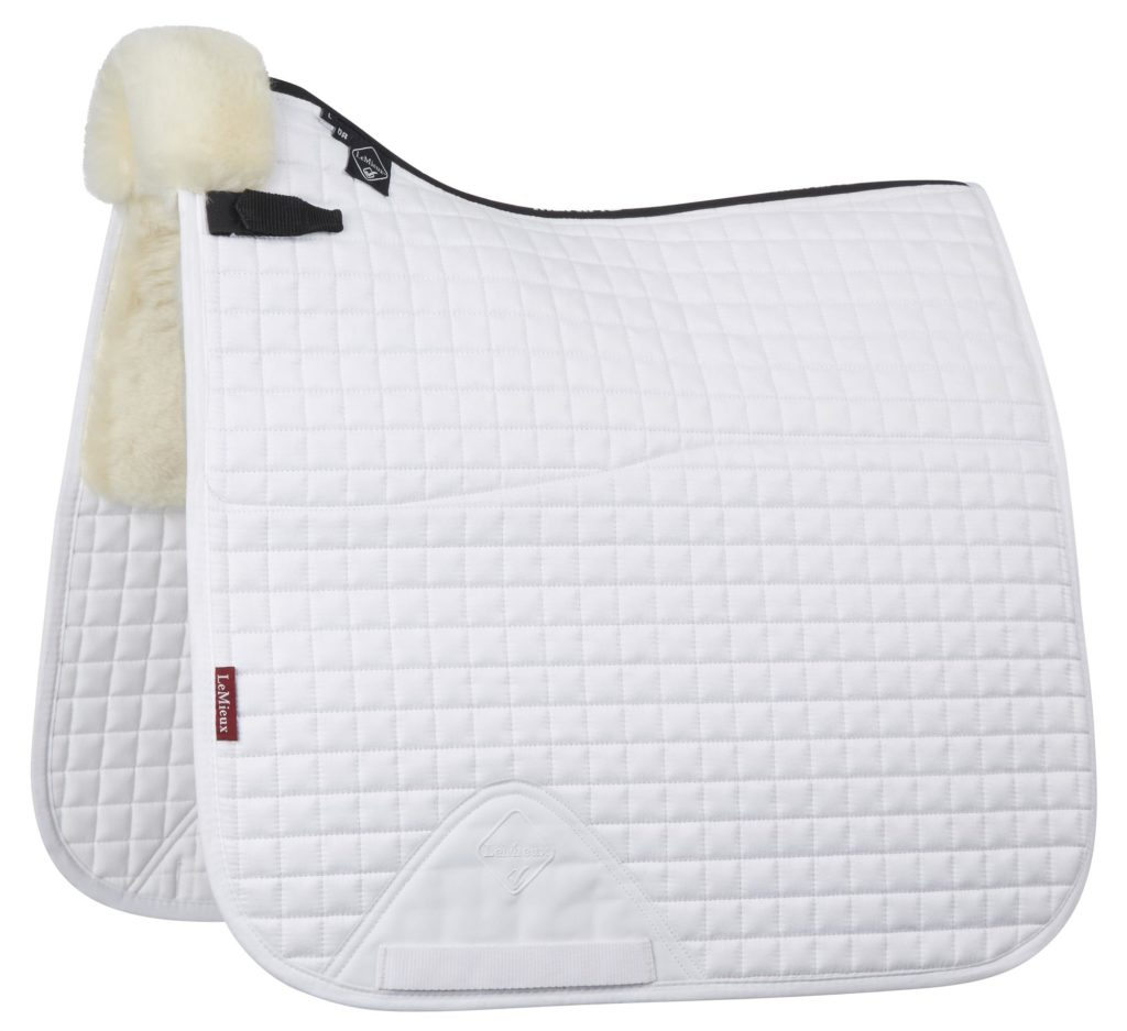 LeMieux Half Lined Dressage Square White