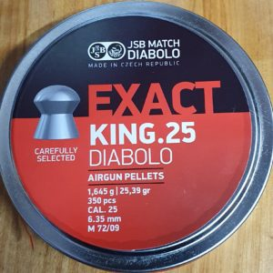 JSB Exact King .25 25.39gr Pellets
