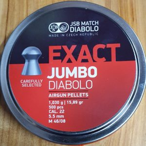 JSB Exact Jumbo .22 15.89gr Pellets