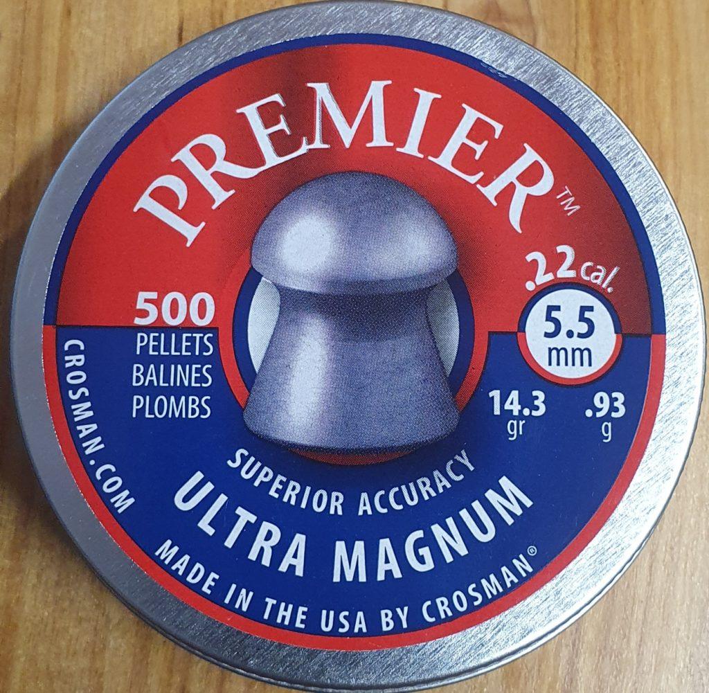 Crosman Premier Ultra Magnum .22 14.3gr Pellets