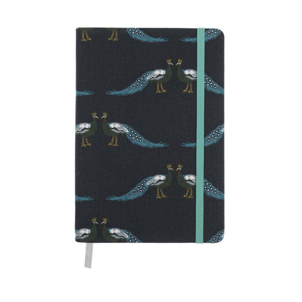 Sophie Allport A5 Peacock Fabric Notebook