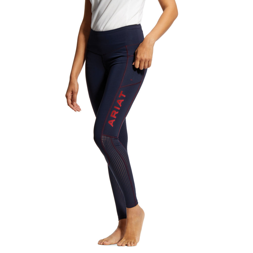 Ariat EOS Full Seat Riding Tights Navy Team