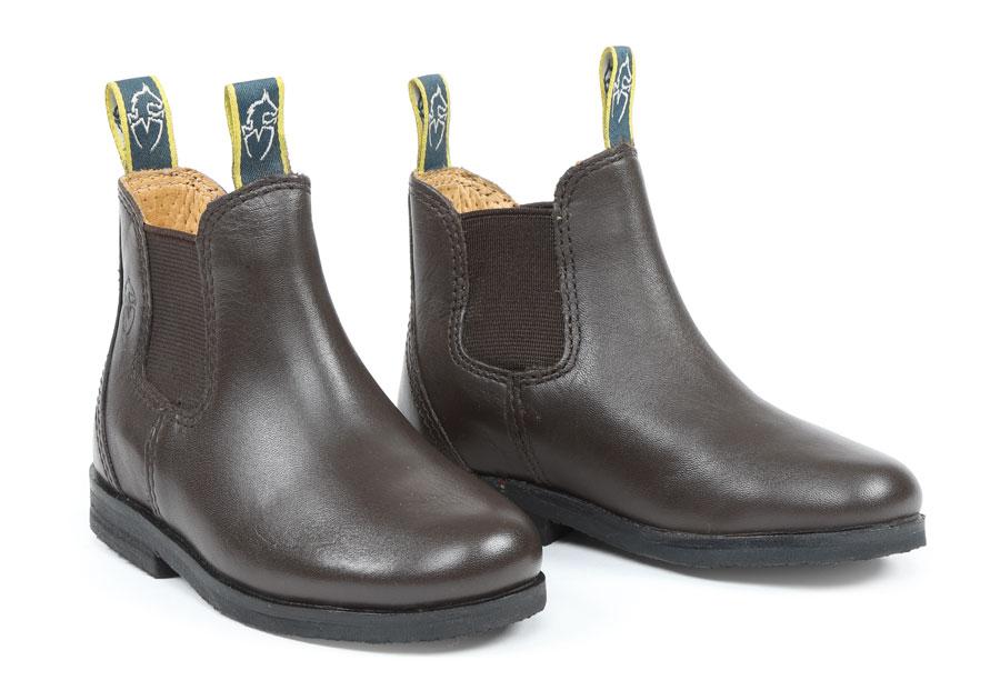 Moretta Fiora Leather Jodhpur Boot Brown