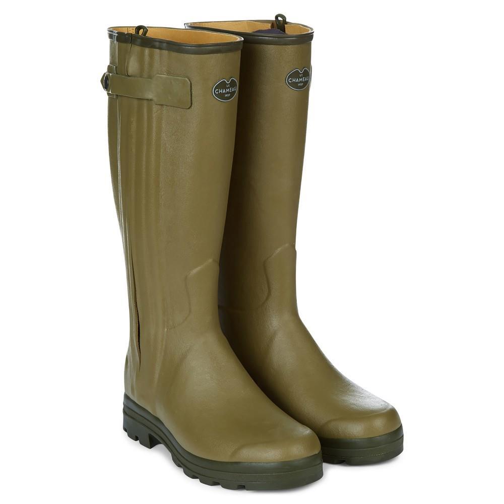Le Chameau Men's Leather Lined Boot