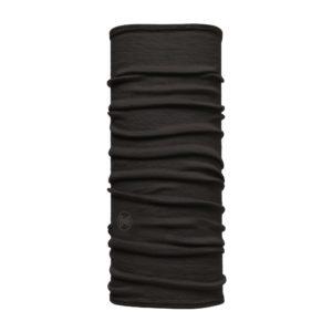 BUFF Junior Lightweight Merino Wool Neck Tube Solid Black