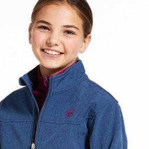 Ariat Kids New Team Softshell Jacket Marine Blue