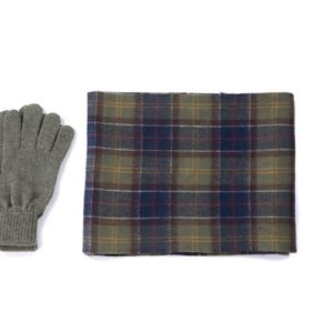 Barbour Glove & Scarf Gift Set Tartan