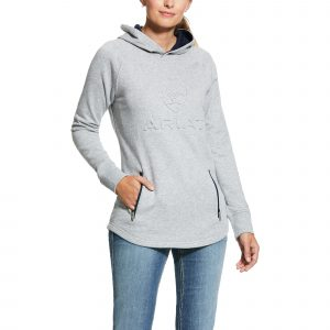 Ariat 3D Logo Hoodie Heather Grey Large