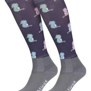 LeMieux Footsies Riding Socks Seahorses