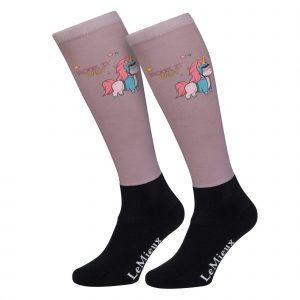 LeMieux Junior Footsies Riding Socks Unicorn