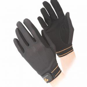 Aubrion Mesh Childs Riding Gloves Black Large