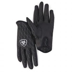 Ariat Cool Grip Gloves Black/White 8