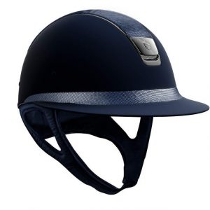 Miss Shield | Shadowmatt Blue | Medium| Shimmer Leather Top & Frontal Band | 58M