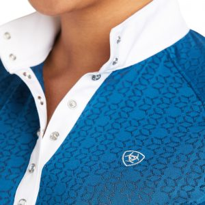 Ariat Showstopper 2.0 Short Sleeve Show Shirt Blue Opal Large