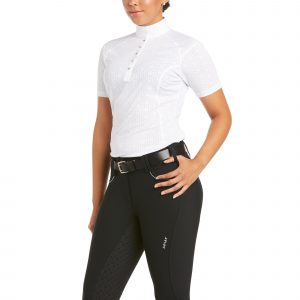Ariat Showstopper 3.0 Short Sleeve Show Shirt White Large