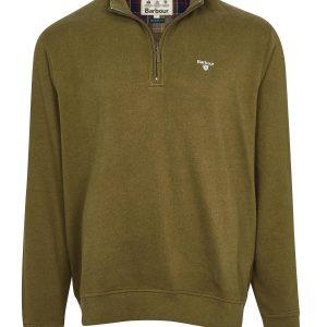 Barbour Bankside Half Zip Sweatshirt Half Zip Dark Olive X Large