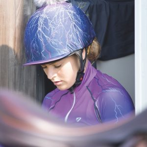 Aubrion Hyde Park Hat Cover Purple Lightening